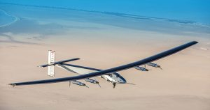 Le Solar Impulse 2 qui a fait le tour du monde depuis Abu Dhabi