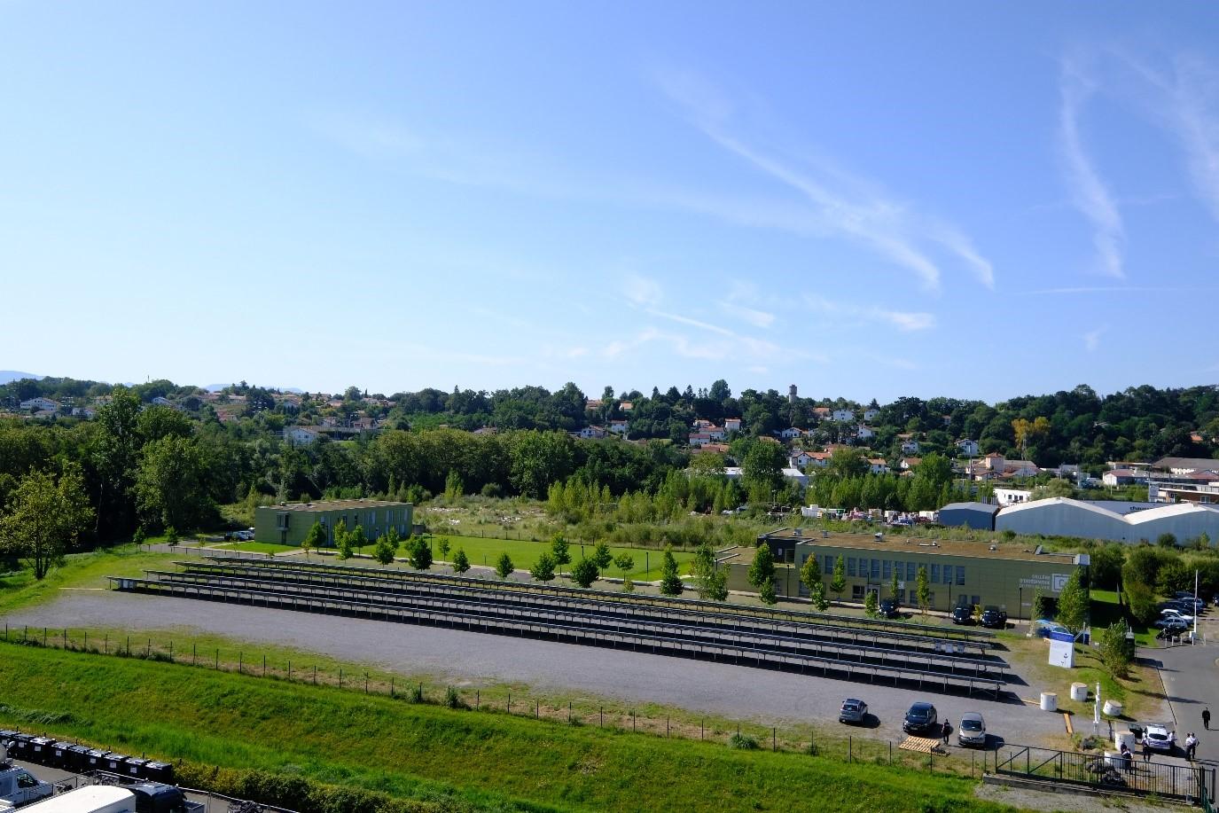Vue de l'installation photovoltaïque déployée par Engie lors du G7 de Biarritz