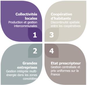 4 niveaux possibles de gestion des réseaux électriques